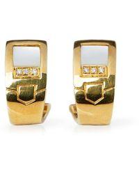 Audemars Piguet 18k Yellow Gold Mabe Pearl & Diamond Earrings - Metallic