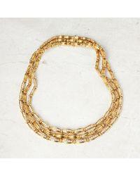 Tiffany & Co. 18k Yellow Gold Diamond Vintage Three Strand Necklace - Metallic