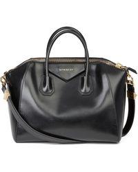 Givenchy - Black Smooth Calfskin Leather Medium Antigona - Lyst