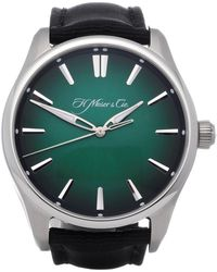 H. Moser & Cie Pioneer Center Seconds Stainless Steel - Green