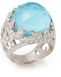 Stephen Webster - Borneo Lipstick 18ct White Gold Crystal Haze And Diamond Ring - Lyst
