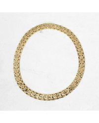 Cartier 18k Yellow Gold Oval Link Diamond Maillon Collar Necklace - Metallic