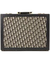Dior Black Monogram Canvas & Calfskin Leather Vintage Briefcase