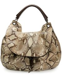 Miu Miu Python Leather Aviator Hobo Bag - Multicolour