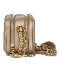9e57008ad4ac Vestiaire Collective · Chanel - Bronze Quilted Lambskin Small Coco Boy  Camera Case Bag - Lyst