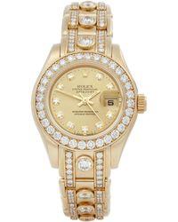 Rolex Pearlmaster 29 Diamond 18k Yellow Gold - Metallic