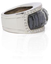 Stephen Webster 18k White Gold Hematite & Diamond Jelly Bean Ring - Metallic