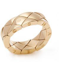 Chanel 18k Yellow Gold Coco Crush Dress Ring - Metallic