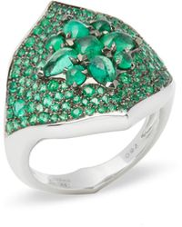 Stephen Webster - Belle Epoque 18ct White Gold Emerald Ring - Lyst
