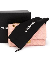 618eb0aaeaa9 Chanel - Pink Quilted Tweed 2.55 Reissue 225 Double Flap Bag - Lyst