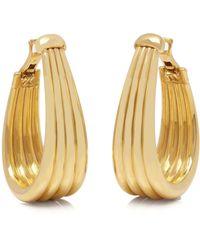 Boucheron 18k Yellow Gold Large Hoop Earrings - Metallic