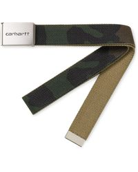 Carhartt Clip Belt Chrome Camo Laurel - Multicolour
