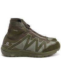 and wander X Salomon Reflective Highcut Sneakers - Green
