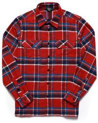 Sebago Swan L/s Check Shirt - Red