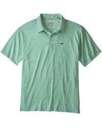 Patagonia Sunshade Polo Shirt Tarpon Fitz Roy Gypsum - Green