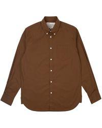 Uniform Bridge All Weather Relax Cotton Shirt - Brown