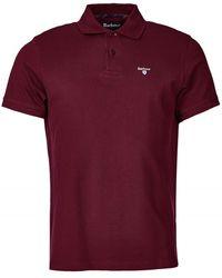 Barbour Tartan Pique Polo Shirt Ruby - Red