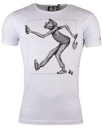Make Make Jazz Attitude S/s T-shirt - White
