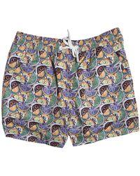 Far Afield Printed Swim Shorts - Blue