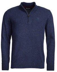 Barbour Tisbury Half Zip Knit - Blue
