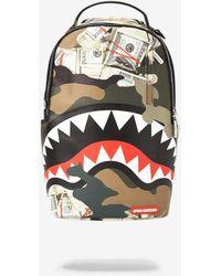 Sprayground Camo Money Shark Backpack - Multicolor