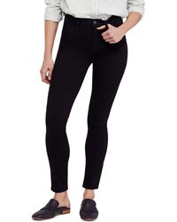 Free People High Rise Long And Lean Jeans - Black