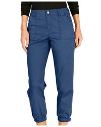 Style & Co. Snap Cuff Casual Pants - Blue