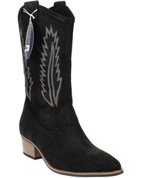White Mountain Caraway Cowgirl Boot - Black