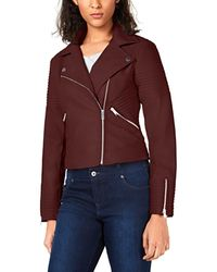 Bar Iii Quilted Moto Jacket - Red