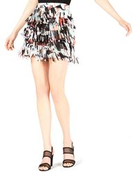 Bar Iii Lasercut Fringe Mini Skirt - Black