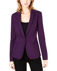 Bar Iii Open Back Blazer - Purple