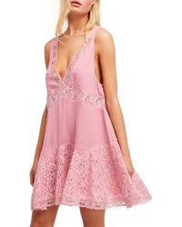 Free People Any Party Trapeze Slip Dress - Pink