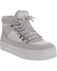 Aqua Bash High-top Platform Sneakers - White