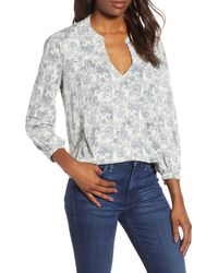 Lucky Brand Peasant Top - Gray