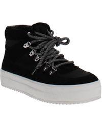 Aqua Bash High-top Platform Sneakers - Black