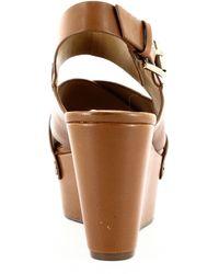 Marc Fisher Bianka Wedge Sandals - Brown