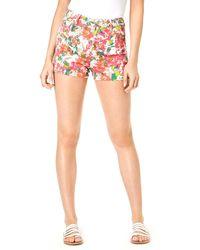 Guess Floral-print Shorts - Multicolour
