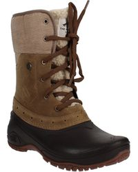 The North Face Shellista Roll-down Winter Boots - Brown