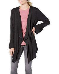 Style & Co. Bell Sleeve Draped Cardigan - Black