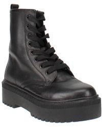 Aqua Logan Platform Hiker Boots - Black