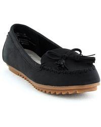 White Mountain Footwear Samanda Flat Slip On - Black