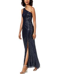 Adrianna Papell - Sequined Mermaid Gown - Lyst