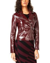 Bar Iii Faux-leather Moto Jacket - Red
