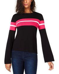 Bar Iii Striped Bell-sleeve Jumper - Multicolour
