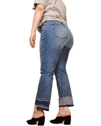 Warp & Weft Cdg - High Rise Straight Plus-size Jeans - Blue