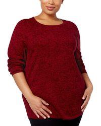 Karen Scott Curved-hem Sweater - Red
