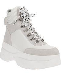 Aqua Haly Platform Hiker Boots - White