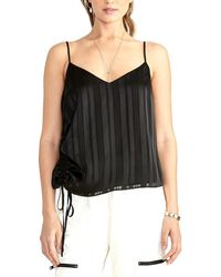 RACHEL Rachel Roy Miriam Ruched-side Cami - Black