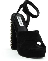 Steve Madden Jodi Two-piece Studded Platform Sandals - Black