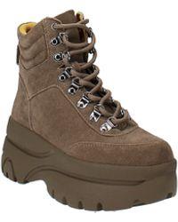 Aqua Haly Platform Sneakers - Brown